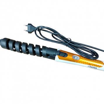 Спиральная плойка для завивки волос Nova NHC-5377 желтая