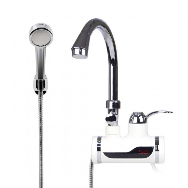 Проточный водонагреватель Delimano с LCD экраном и душем