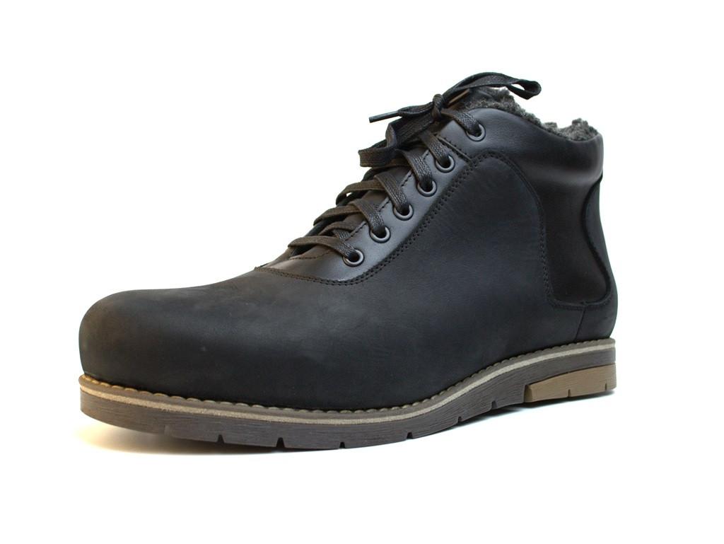 Зимние кожаные мужские черные ботинки Rosso Avangard Ragnarr Street Black