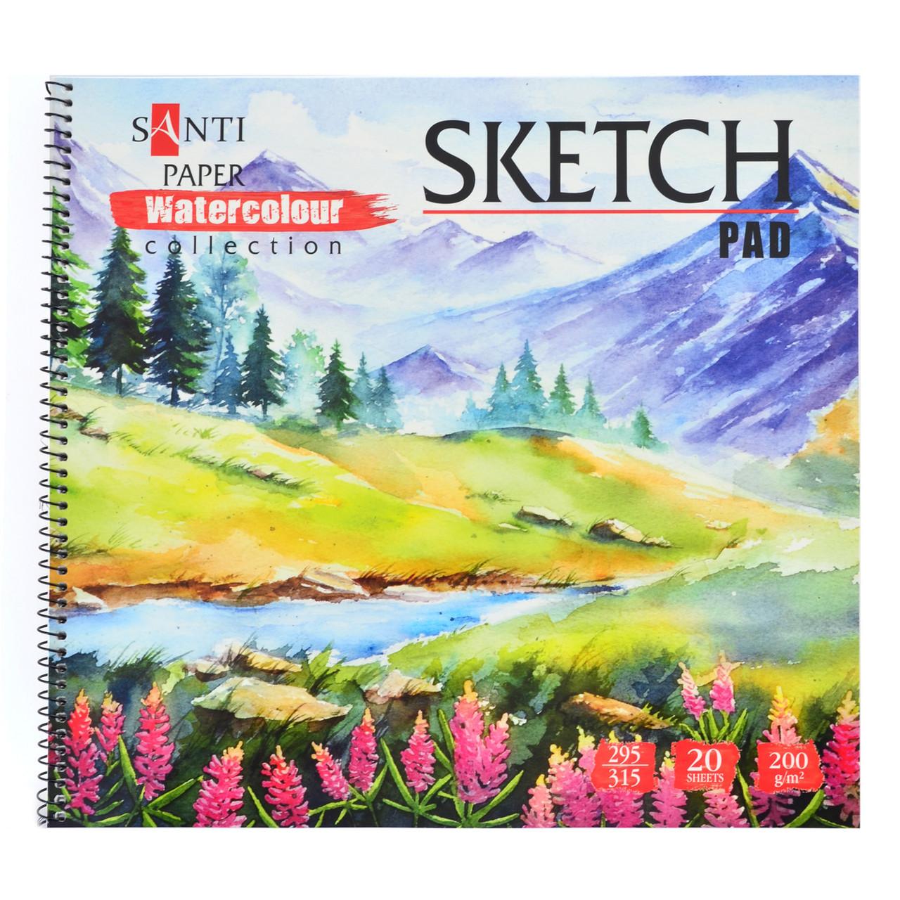 "Альбом для эскизов ""Paper Watercolour Collection"", 315*295мм, 20л (уп. 5 штук)"