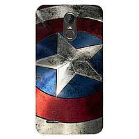 Чехол с рисунком Printed Silicone для LG Stylus 3 M400DY Щит Капитана Америки