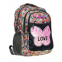 """Рюкзак школьный для девочки Class """"Butterfly"""" 38*28*16 см разноцветный 9931"""