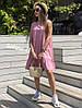 Стильное платье сарафан на лето с воланом костюмка, фото 4