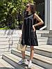 Стильное платье сарафан на лето с воланом костюмка, фото 5