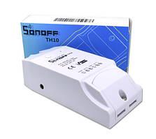 Беспроводное Wi-Fi реле времени Sonoff TH10. Терморегулятор . С Мониторингом Температуры И Влажности.