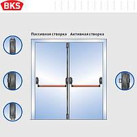 Антипаника для двухстворчатой двери 3-мя точками запирания с внешней наружной ручкой (G-U Германия)