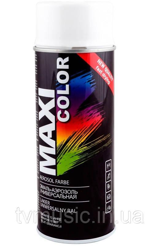 Аэрозольная краска Maxi Color RAL 9003 Сигнально-белый 400 мл