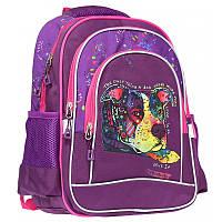 """Рюкзак школьный для девочки Class """"Dog"""" 38*28*18 см фиолетовый 9934, фото 1"""