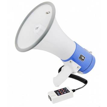 Громкоговоритель, мегафон (рупор) UKC Power ER-55U White/Blue 25W + MP3