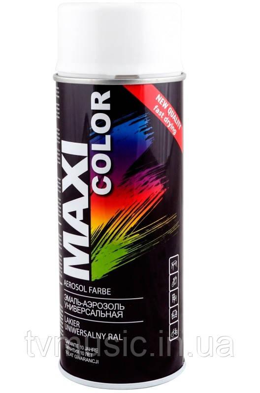 Аэрозольная краска Maxi Color RAL 9003M Сигнально-белый матовый 400 мл