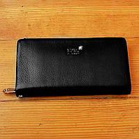 Стильный бумажник Montblanc черный мужской натуральная кожа Качество кошелек Брендовый барсетка Монблан копия