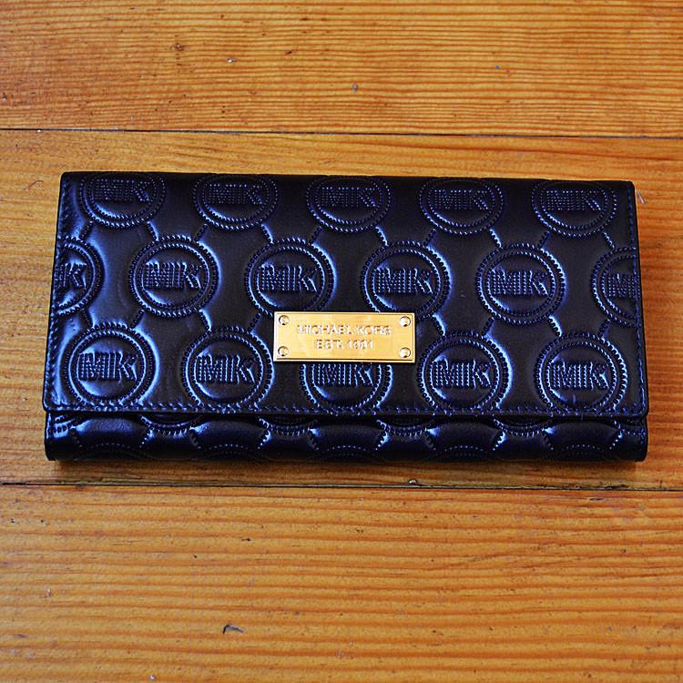 Брендовый кошелек Michael Kors синий натуральная кожа Качество клатч Стильный портмоне Майкл Корс копия