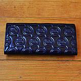 Брендовый кошелек Michael Kors синий натуральная кожа Качество клатч Стильный портмоне Майкл Корс копия, фото 3