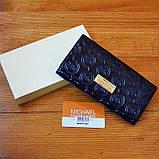 Брендовый кошелек Michael Kors синий натуральная кожа Качество клатч Стильный портмоне Майкл Корс копия, фото 8
