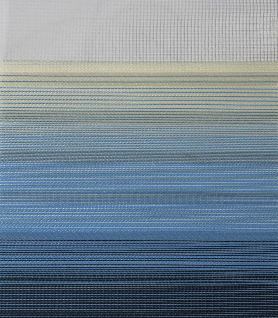 Рулонні штори День-Ніч Тканина Містичний Z-572 Бежево-синій