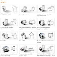 Фитинг для трубы полипропилен белый д.20 Firat