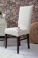 Чехлы натяжные на стулья  без оборки MILANO белые (набор 6 шт.)