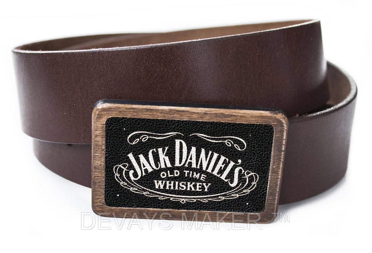 """Ремень кожаный, """"Jack Daniels"""""""