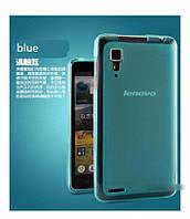 TPU чехол для Lenovo P780 голубой, фото 1