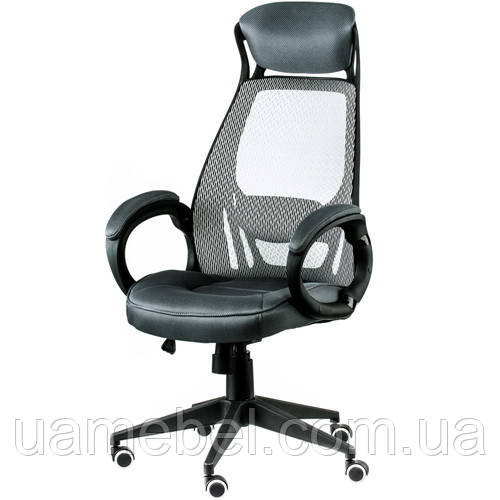 Крісло керівника Briz grey/black E4909