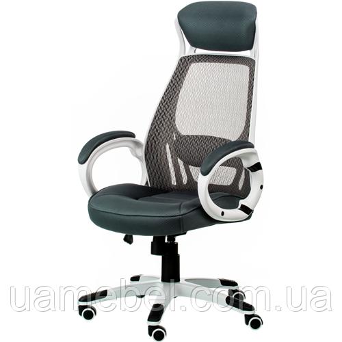 Кресло руководителя Briz grey/white E0888