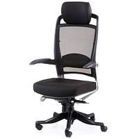 Кресло для руководителя FULKRUM BLACK FABRIC, BLACK MESH E0611, фото 1