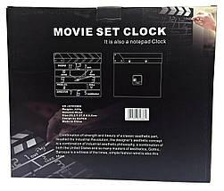 """Часы настенные """"Режиссерская хлопушка"""" MOVIE SET CLOCK '', фото 2"""