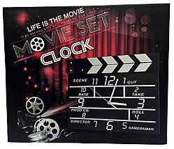 """Часы настенные """"Режиссерская хлопушка"""" MOVIE SET CLOCK '', фото 3"""