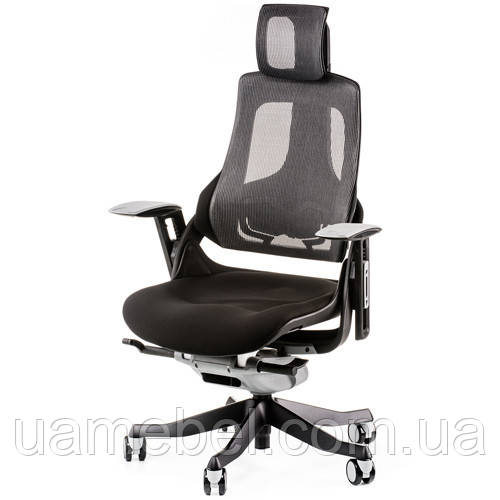 Кресло руководителя WAU BLACK FABRIC, CHARCOAL NETWORK E0789