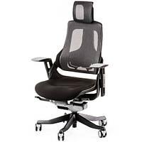 Кресло руководителя WAU BLACK FABRIC, CHARCOAL NETWORK E0789, фото 1