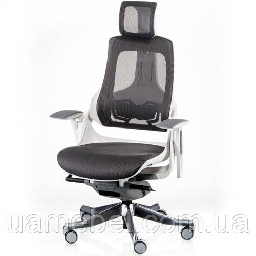 Кресло для руководителя WAU CHARCOAL NETWORK WHITE E5319