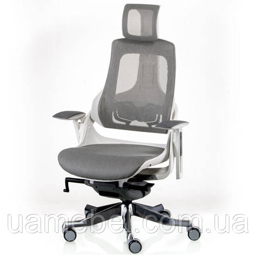 Кресло руководителя WAU SNOWY NETWORK WHITE E5302