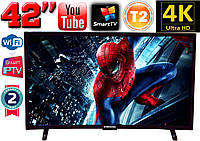 "Изогнутый 4K телевизор Samsung Curved SmartTV 42"" UHDTV,LED, IPTV, Android,T2,WIFI,TV,3840x2160 КОРЕЯ"