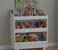 Деревянная полка детская для игрушек и книг