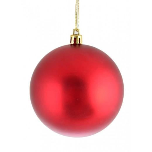 Куля  d - 8 см, червоний матова