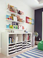 Деревянная полка для книг и игрушек