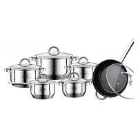 Набор кастрюль кухонной посуды 12 пр Peterhof (PH-15797 нержавеющая сталь)