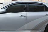 Ветровики, дефлекторы окон Toyota Corolla 2007-2012 (Autoclover) A169, фото 7