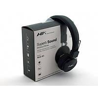 Беспроводные Bluetooth Наушники с MP3 плеером NIA-X3 Радио блютуз Чёрные