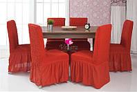 АКЦИЯ!!!Чехлы  для стульев красные (набор 6 шт.)