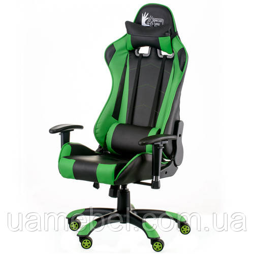 Кресло игровое ExtremeRace black/green E5623