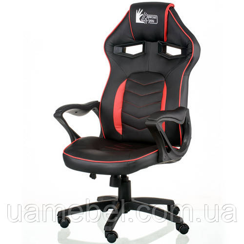 Игровое кресло для компьютера Nitro black/red E5579