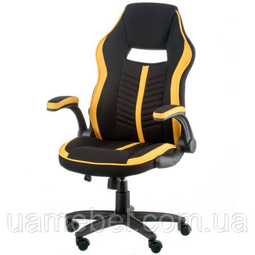 Кресло игровое для компьютера Prime black/yellow E5548