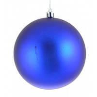 Куля ,d - 10 см,   синя  матова