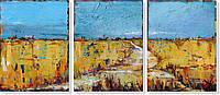 Репродукция модульной картины триптих «Открытое пространство» 60 х 140 см