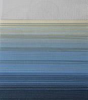 Готовые рулонные шторы Ткань Z-572 Бежево-синий