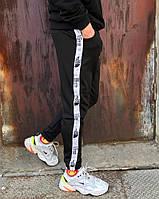 Спортивные штаны в стиле TNF line черные