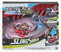 Игровой набор Hasbro Beyblade Sling Shogk Bey Blade Арена и 2 волчка (E3629)