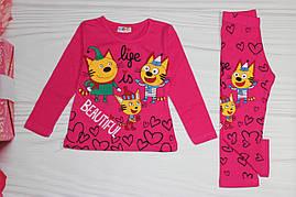 Костюм для девочки Розовый и салатовый Турция от 1 до 8 лет