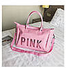 Сумка спортивная женская PINK розовая
